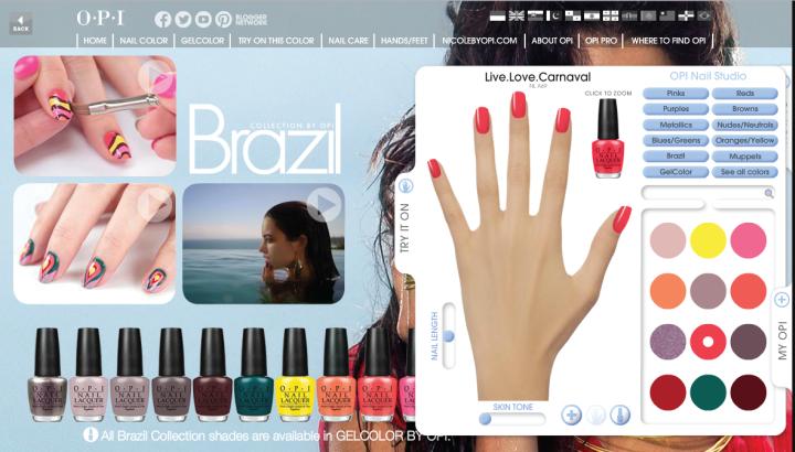 OPI nail polish website