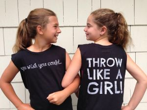 Throw Like a Girl Tee