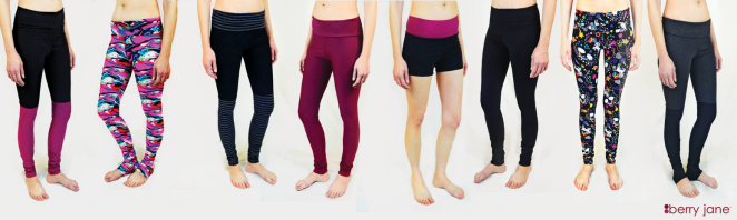 berry jane yoga activewear made in USA