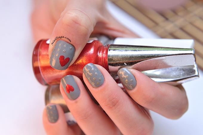 Perfectly Polished Hearts Nail Art