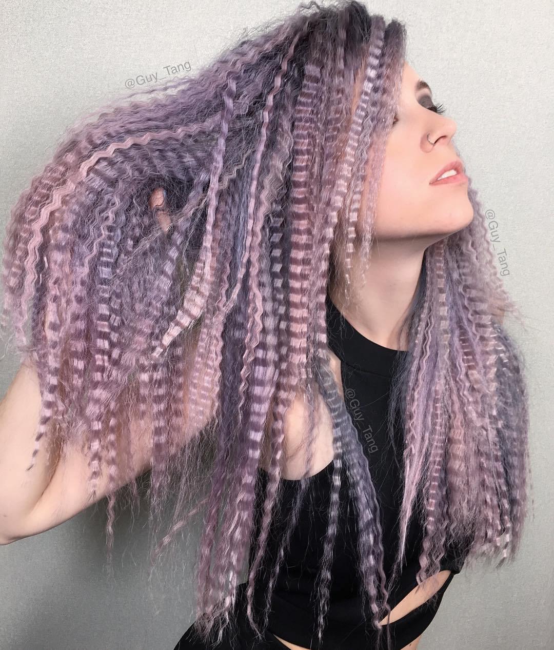lavender-crimped-hair